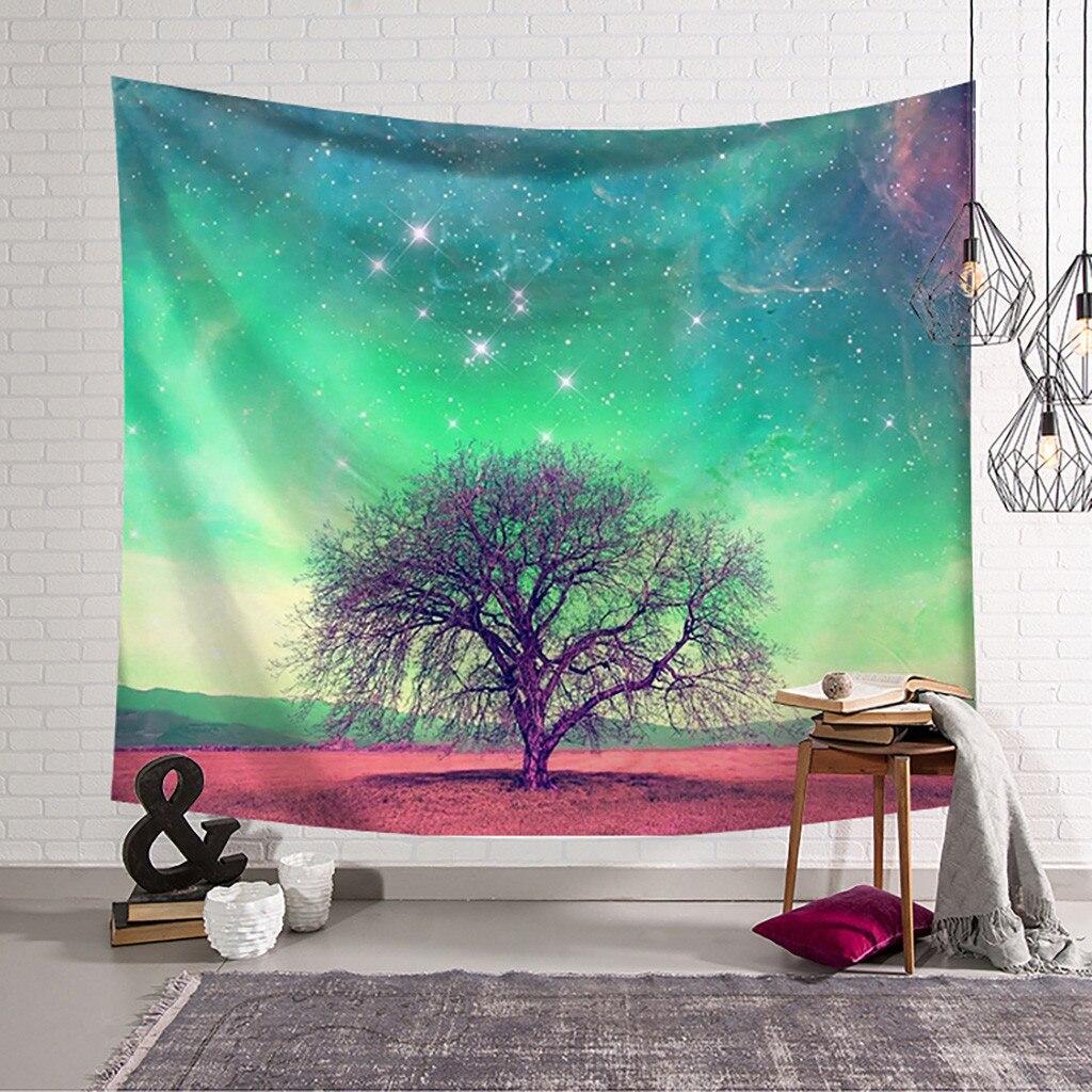 Tapestry de nuevo estilo decorativo tapices hermoso abstracto de la luna trres sombra de impresión decoración del hogar arte de la pared