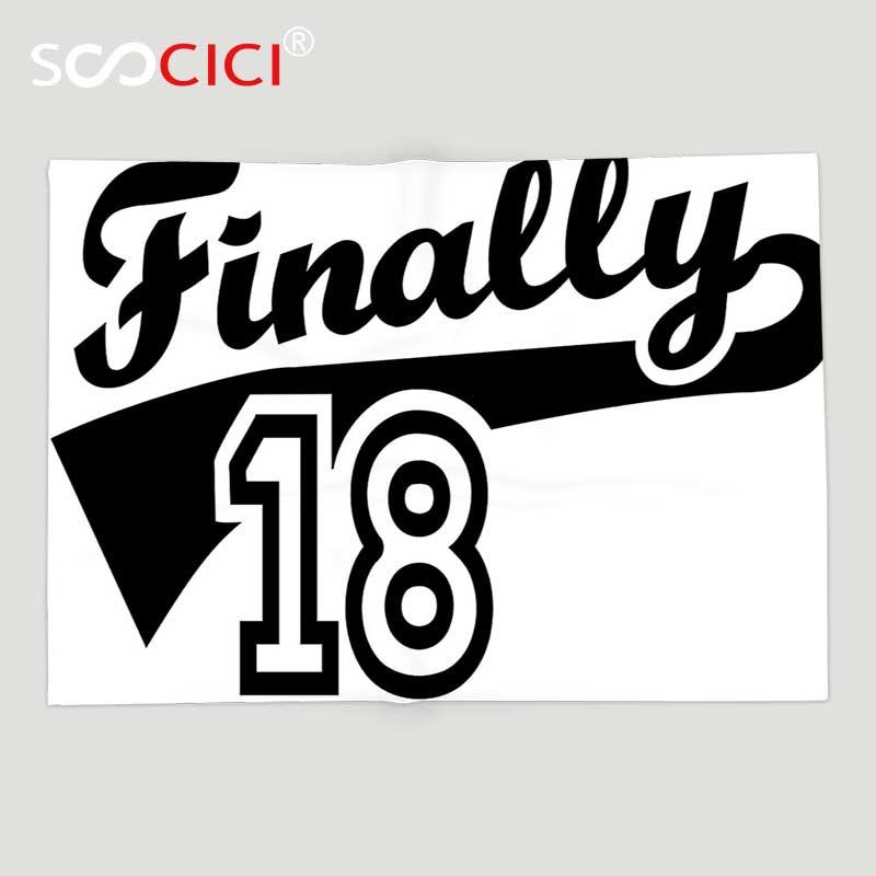 Manta de forro polar suave personalizada 18 cumpleaños decoración finalmente 18 cita baloncesto Logo icono parece imagen