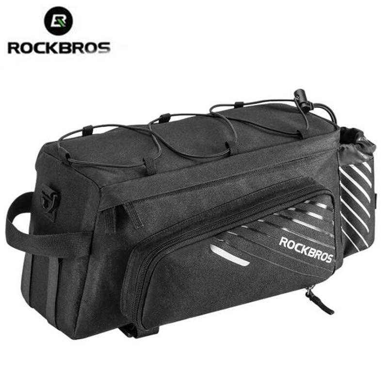 ROCKBROS MTB сумка для переноски велосипеда задняя стойка сумка для багажника велосипеда Pannier большая емкость с дождевиком сумка для багажа задн...