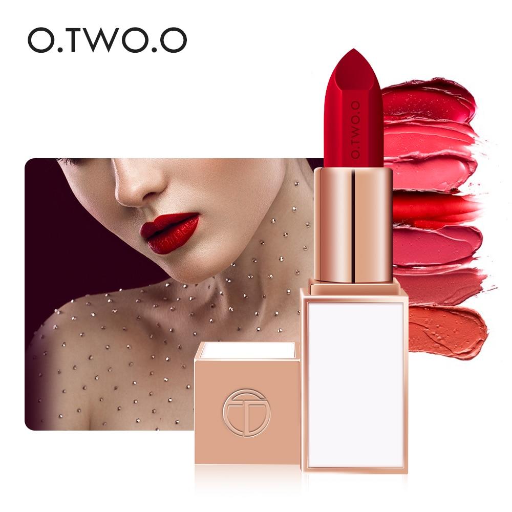 O. TW O.O NEUE Lip Make-Up Lippenstift Semi-velet Kosmetik Lang Anhaltende Wasserdichte Nutitious Lip Stick 20 Farben Lip gloss Kosmetik
