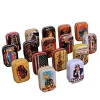 premium portable american style mini travel tin vintage small metal tins storage box organizer pill case random color