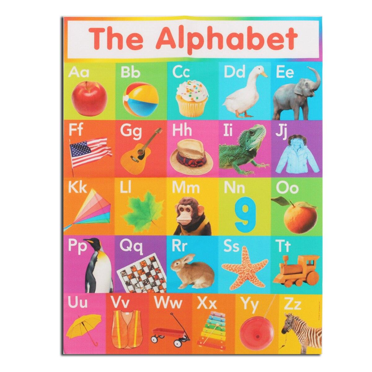 Póster de animales de arte del alfabeto A4 para niños, educación en...
