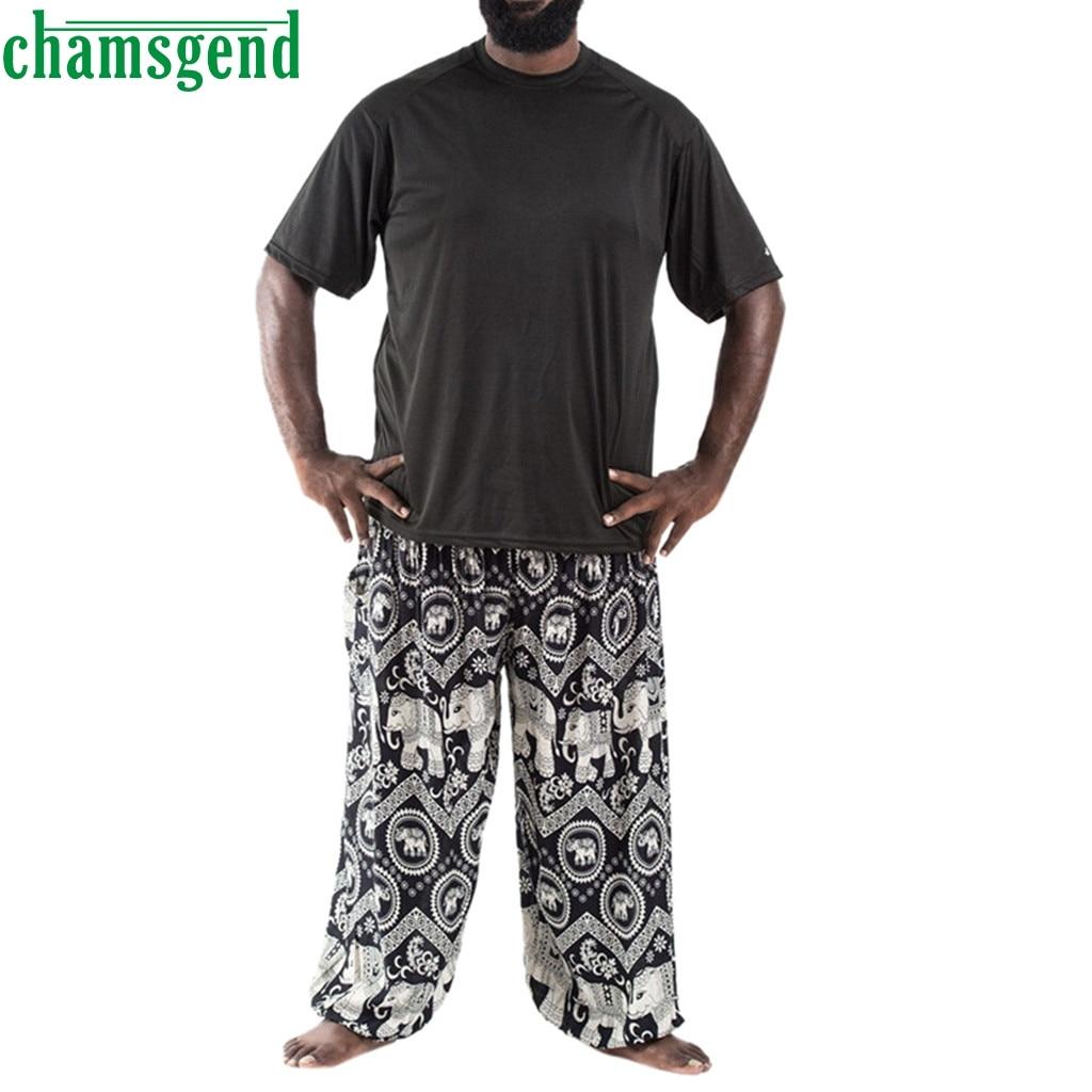 Pantalones de Yoga CHAMSGEND, pantalones de Yoga para hombre de tamaño más holgados, mono bohemio, pantalones tailandeses, Hippy, Yoga, deporte, correr, mallas de gimnasio 09