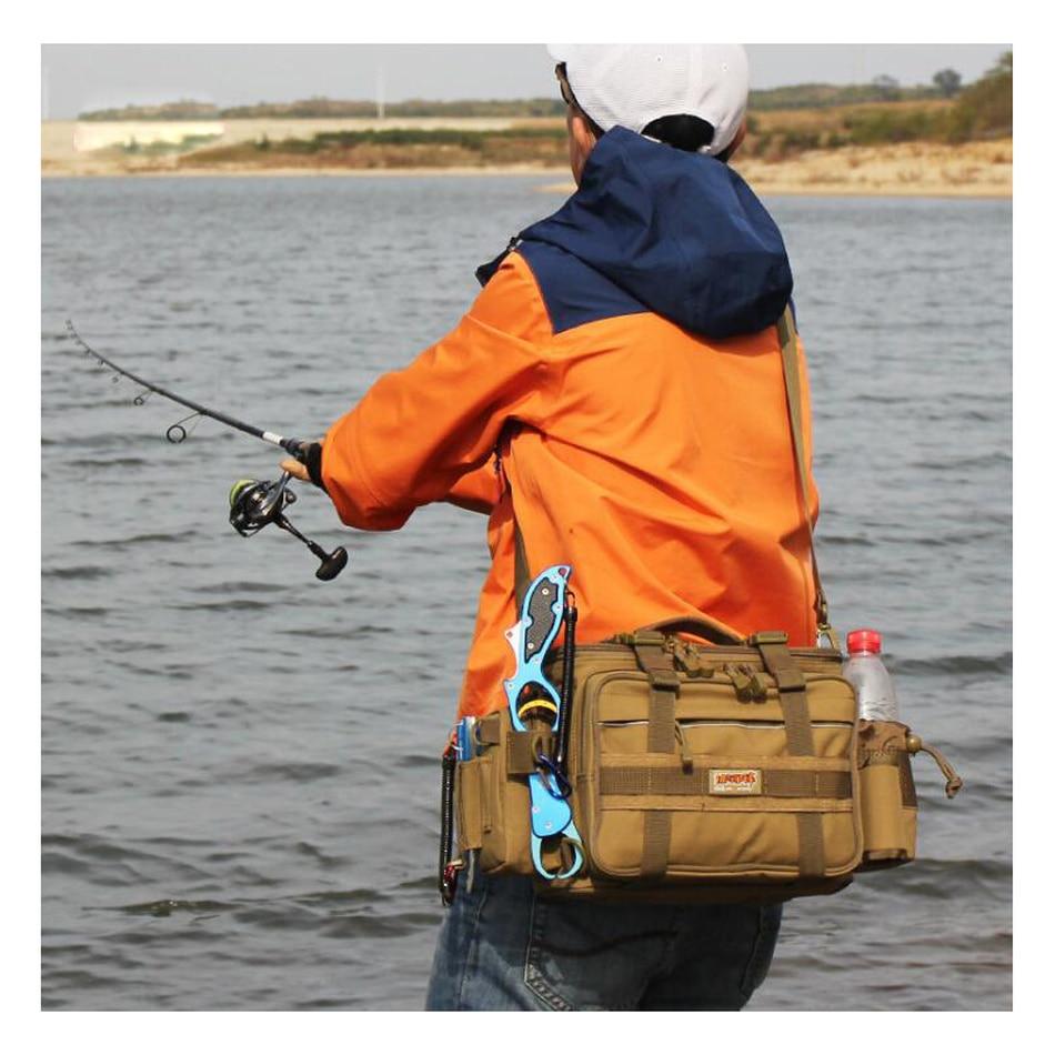 High Quality 4-Color Outdoor Fish Bag Multifunctional Shoulder Waist Fishing Gear Lure Bait Reel fishing tackle bag enlarge