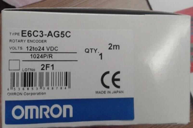 Freeshipping E6C3-AG5C 1024P/R ترميز دوارة المطلق ، 12-24VDC NPN E6C3AG5C 1024P/R ، E6C3 AG5C 1024PPR جديد في مربع