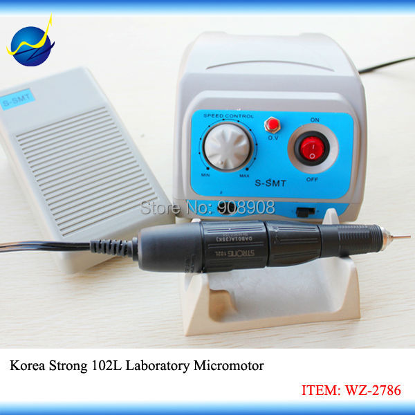 110 V/220 V S-SMT Micromotor laboratorio reloj de joyería Hobby Nail File molinillo Motor de potencia Original Corea fuerte 102L Handpiece Set