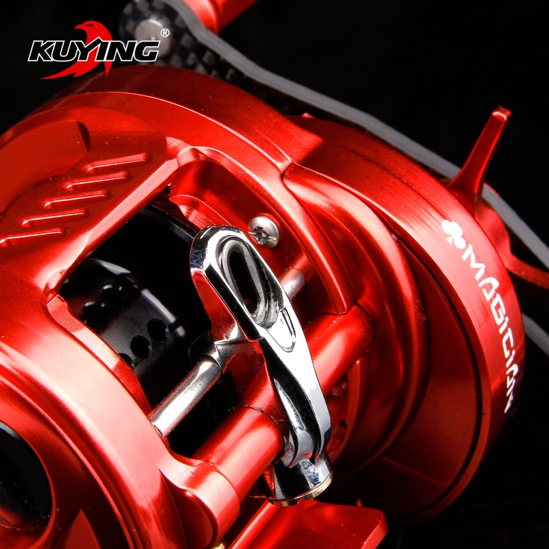 KUYING MAGICIAN 6.2:1 12+1 Metal Bait Casting Drum 286.5g Fishing Reel Vessel Wheel Saltwater Coil Centrifugal 8KG Free Shipping