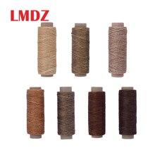 LMDZ cordon de cire de couture   Filet plat ciré 50M outil artisanal Portable pour artisanat bricolage produits en cuir, cordon ciré