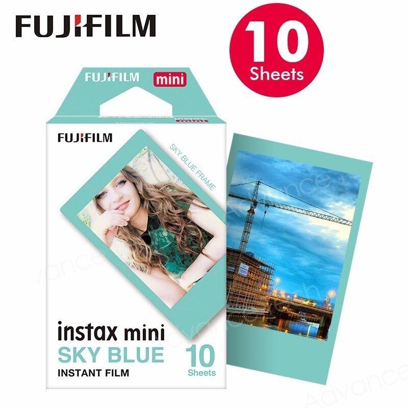 Fujifilm Instax Mini 8 Film 10 Sheets Blue edge Fuji Photo Paper For 70 50s 7s 90 25 Share SP-1 SP2 LOMO Instant Camera