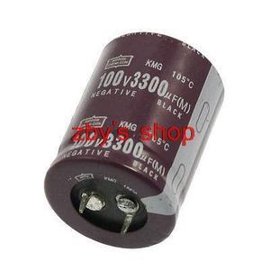 Пластиковый корпус 3300 мкФ 100V 105 градусов Цельсия Алюминиевый электролитический конденсатор
