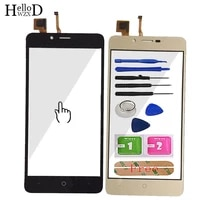 5 0 mobile phone touch glass for vertex impress lion touch screen glass digitizer panel lens sensor tools free adhesive