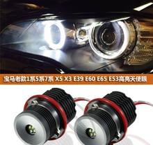 2x20W blanc/rouge Angel Eyes LED Halo anneau marqueur sans erreur pour 5-series e39 e60 E61(520 525 528 530 535 M5)201-2007