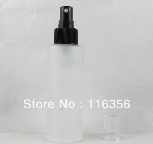 Botella de vidrio esmerilado 100 ML con botella de spray, botella de loción
