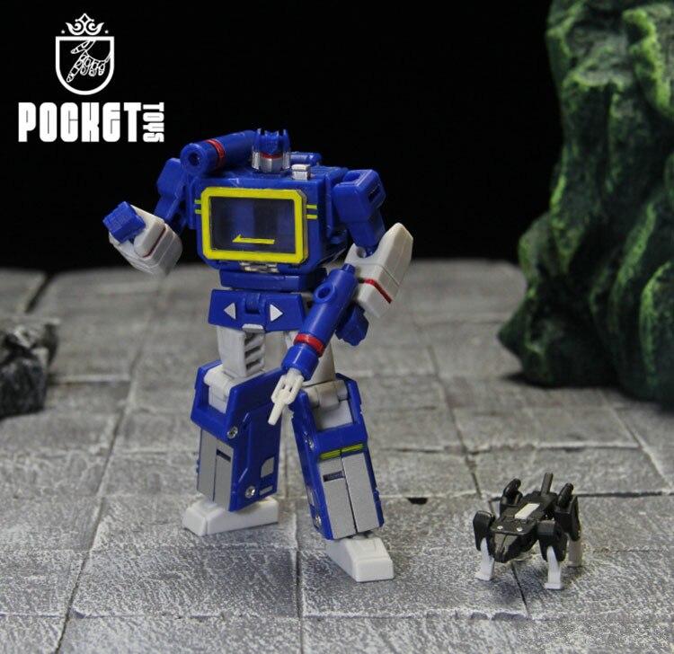 PT Transformation Soundwave PT04 PT-04 avec bande G1 Mini poche Guerra KO DX9 figurine Giocattoli Robot pour cadeau