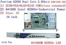 Pare-feu vpn personnel Intel Pentium G2030 3.0 Ghz 1U avec 6 * intel 1000 M 82583 V Gigabit LAN Mikrotik ROS etc 2G RAM 500G HDD