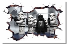 Toile personnalisée murale dessin animé film Star Wars affiche dark vador Stormtrooper papier peint 3D Stickers muraux décorations #0780 #