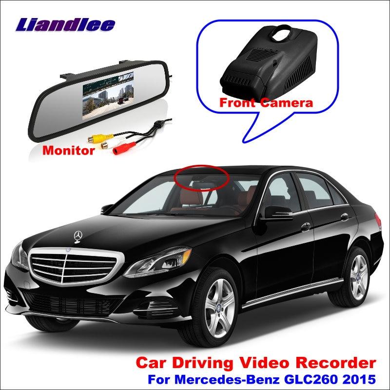 Liandlee Car DVR Front Camera Driving Video Recorder Mirror Monitor For Mercedes Benz GLC260 2015 HD AUTO CAM
