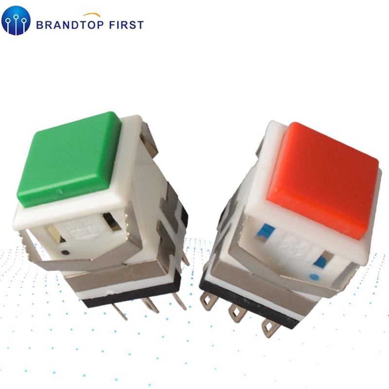 6pin auto-bloqueio interruptor de botão momentâneo autoreset switch KD2-24 KD2-23