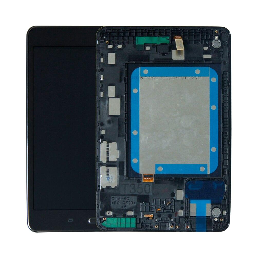 Para Samsung Galaxy Tab A T350 SM-T350 pantalla táctil digitalizador Sensor cristal pantalla LCD Monitor marco de montaje