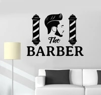 vinyl wall applique hairstyle boy barber shop wall boutique stickers decorative fashion mens haircut stickers mf16