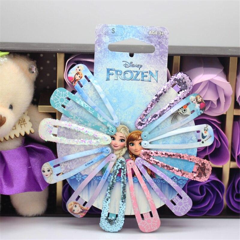 Clip para el pelo de los niños congelados de la historieta de la princesa Elsa accesorios para el pelo pin lazo artículo para la cabeza niña Regalo de Cumpleaños clip de la cabeza del chico de la princesa