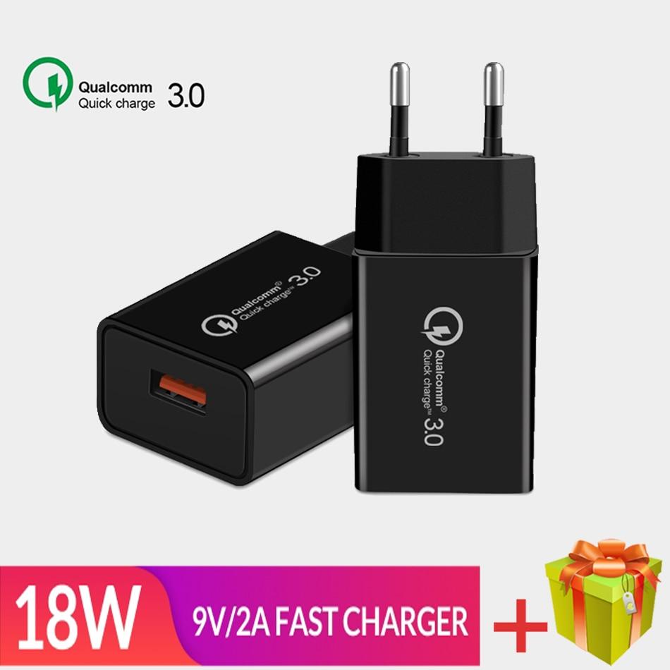Cargador USB QC3.0 De 18W para móvil, cargador De viaje para iphone,...