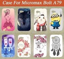 Funda Micromax A79 de gran calidad con 10 patrones pintados de Tpu suave estuche para Micromax Bolt A79