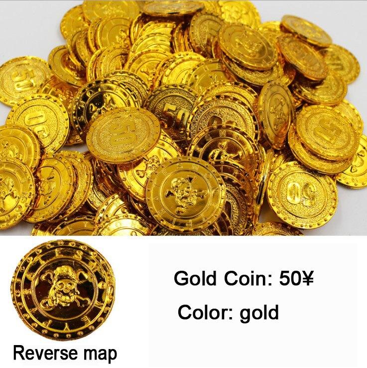 NOVO tesouro de moedas moedas de ouro Pirata aniversário Jóia do feriado do Natal de Plástico goody loot partido pinata Tesouro brinquedo decoração EMS
