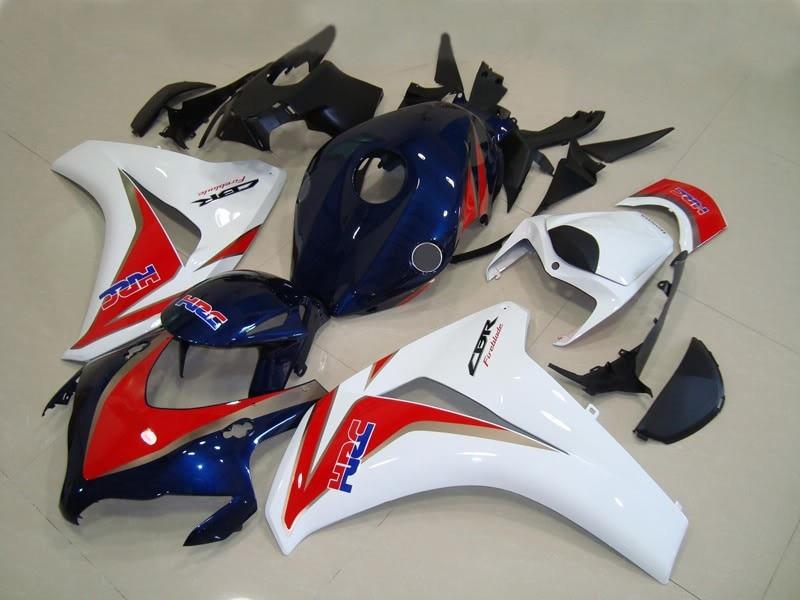 طقم انسيابية ABS للدراجة النارية ، هيكل دراجة نارية أحمر أزرق أبيض CBR 1000 RR 2008 2009 2010 2011 CBR1000RR 08 09 10 11