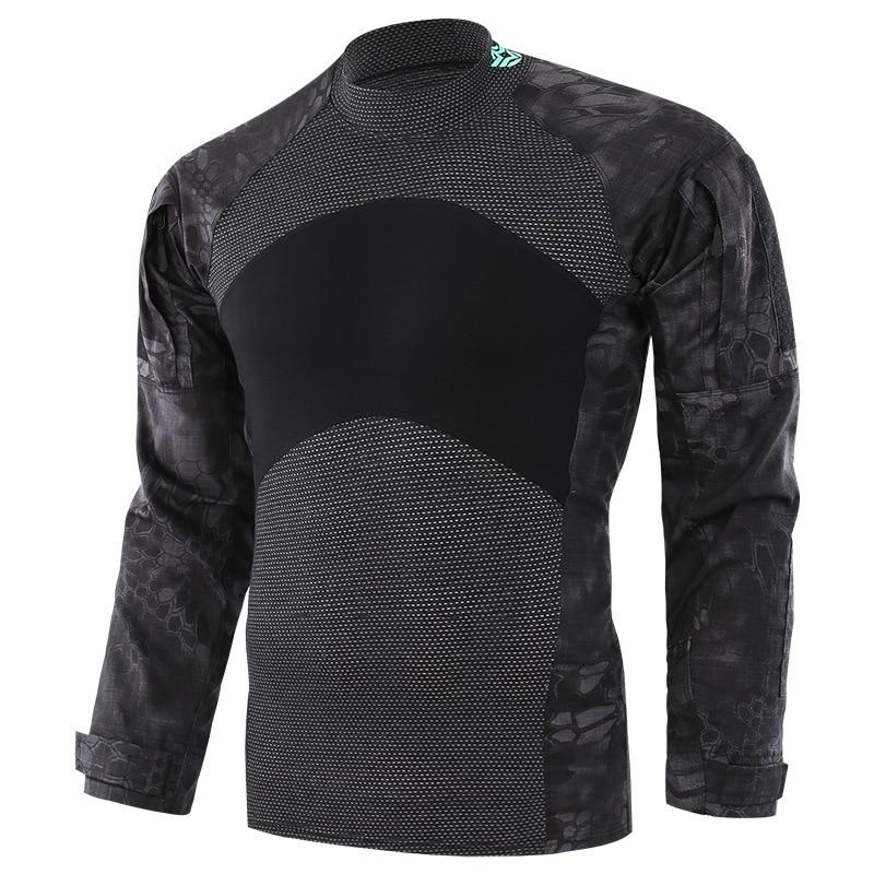Camisa de rana táctica de escalada al aire libre para hombre, Camuflaje, deportes, ciclismo, fanáticos del ejército, combate, entrenamiento militar, ropa