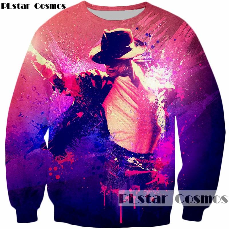 PLstar Cosmos marque vêtements Sweatshirts hommes/femmes col rond pulls Pop king Michael Jackson imprimer manches longues Outwear