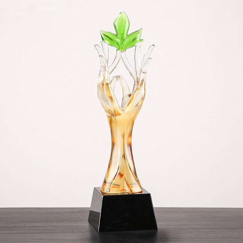 30 cm Colorido copo esmalte de alta-grade criativo copo de cristal copo cuidado troféus prêmio anual da empresa excelente empregado