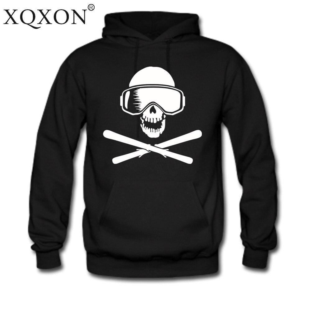 XQXON Skimen cráneos Otoño Invierno ThinHigh-calidad de los hombres sudaderas con capucha sudadera nueva ropa con capucha H48