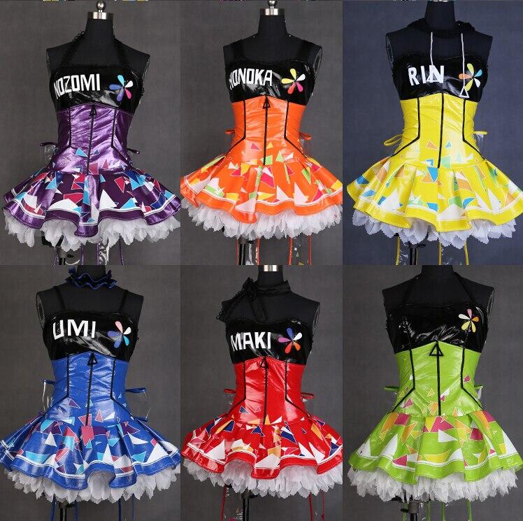 Live Love! love live! Cyber LED Gaming Game Awakening All Members Minami Kotori Uniforms Cosplay Costume Free  Shine brightly