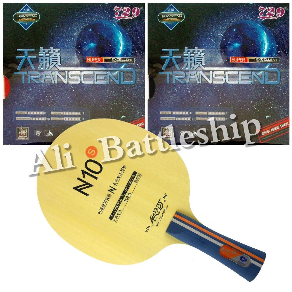 Оригинал Galaxy YINHE N10s лезвие для настольного тенниса с 2x RITC 729 Transcend Cream Rubber с губкой Long Shakehand FL
