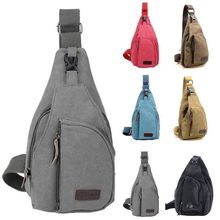 Canvas bag mobile phone bag backpack men and women outdoor tactical fishing mountaineering bike mess