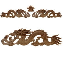 Runbazef China Floral Holzschnitzerei Aufkleber Stil Gummi Holz Geschnitzt Ecke Applique Decor Rahmen Wand Türen Dekorative Figuren
