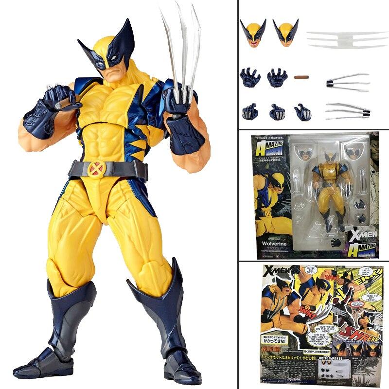 Yamaguchi Revoltech increíble superhéroe x-men Wolverine Logan Howlett No.005 figura de acción juguete para regalo