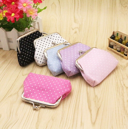 AUAU Popular Cute girls Wallet Clutch Change Purse key/coins bag Mini Handbag Pouch purple