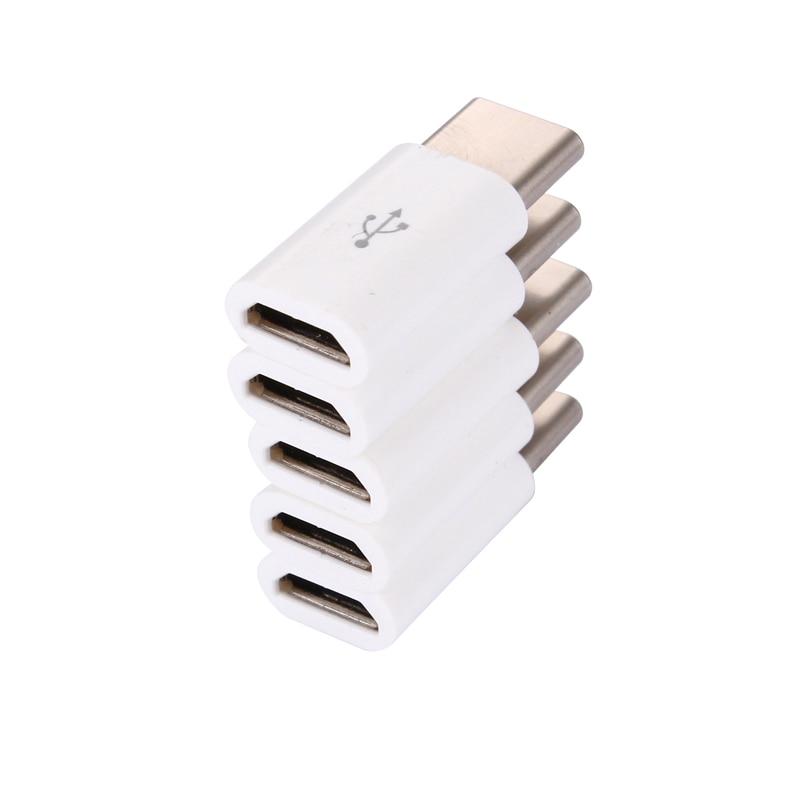 Venda quente! 5 pçs/lote USB 3.1 Tipo C Macho para Fêmea Adaptador Micro USB Tipo-C Conversor Conector USB-C preto e branco