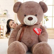 1PC 75/90/110cm Large Teddy Bear Plush Toy Lovely Huge Stuffed Soft Bear Wear Bowknot Bear Kids Toy Birthday Gift For Girlfriend