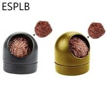 ESPLB 블랙/골드 용접 납땜 솔더 철 클립 클리너 스폰지와 홀더와 철강 청소