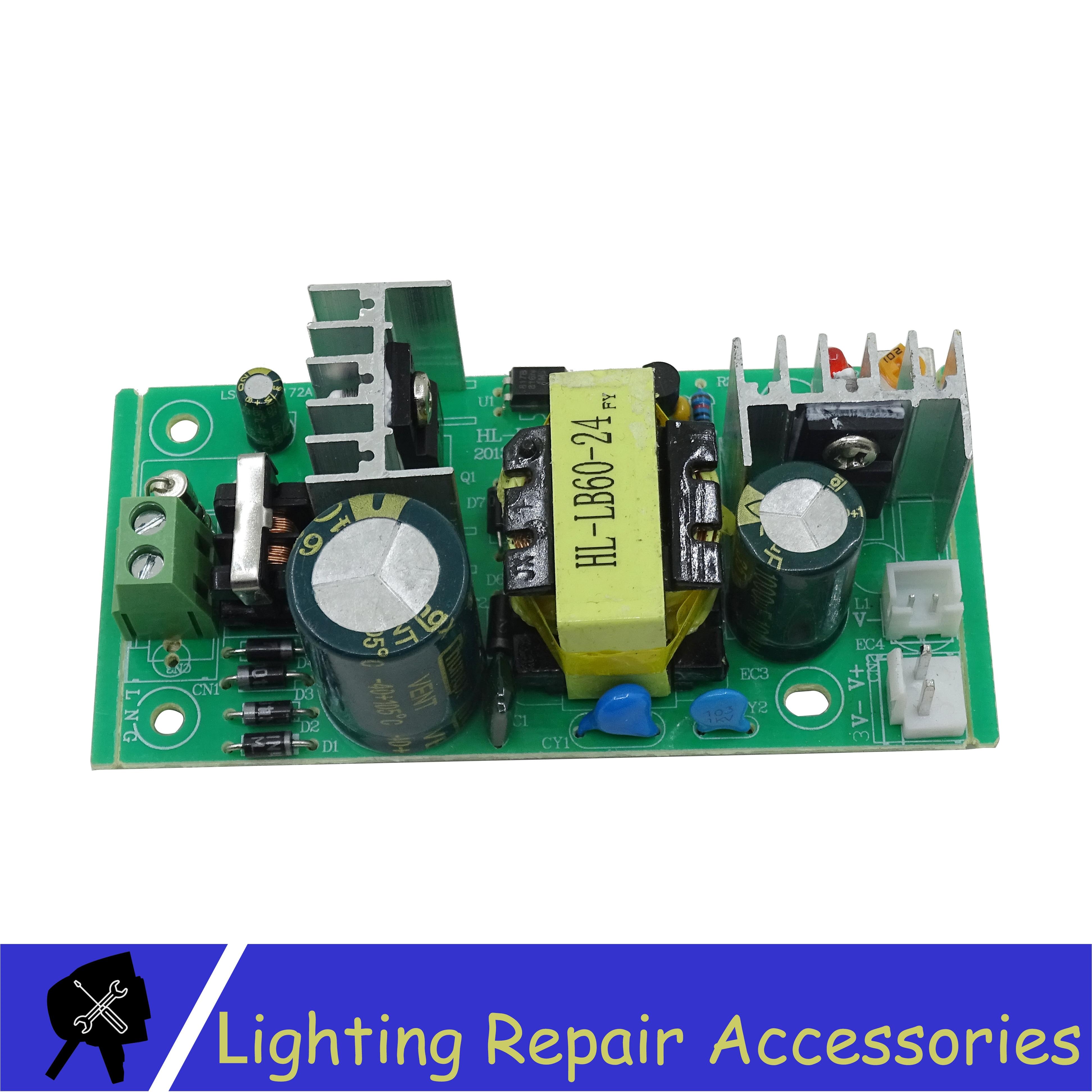 60w 24V 2.5A Power Supply Stage Light Accessories For 12x12w 54x1w RGBW Plastic Led par light