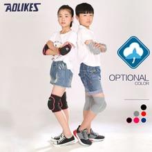 1Pair Sports Gym Kids Knee Support Knees Pads Joint Protector Anti Collision Sponge Pad Dance Ski Football Children Boy Girls