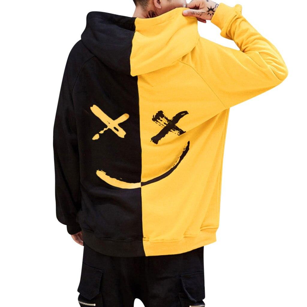 Мужская толстовка со смайликом, с принтом, пуловер с капюшоном, Moleton, уличная одежда, Sudadera Hombre, большие размеры, S-5XL
