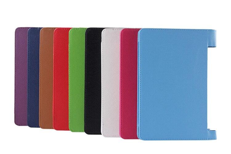Funda inteligente de piel sintética de alta calidad para Tablet Lenovo Yoga 2 1050 1050F 1050L funda para tablet Ultra delgada funda TC + pluma