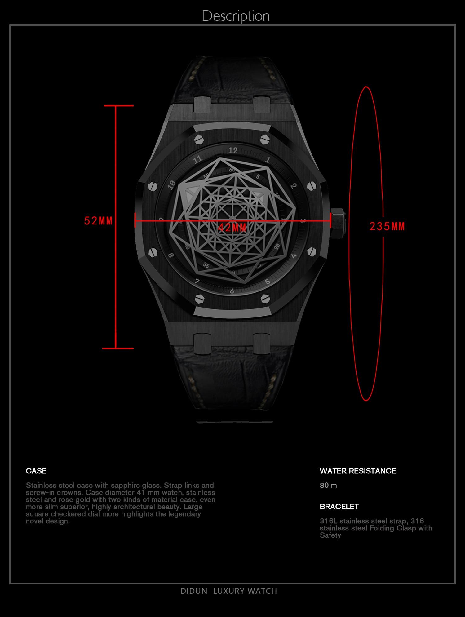 Watch Men Luxury Brand watch Men steel Quartz Watches Men Dress Business Watch Luminous Wristwatch 30m Waterresistant enlarge