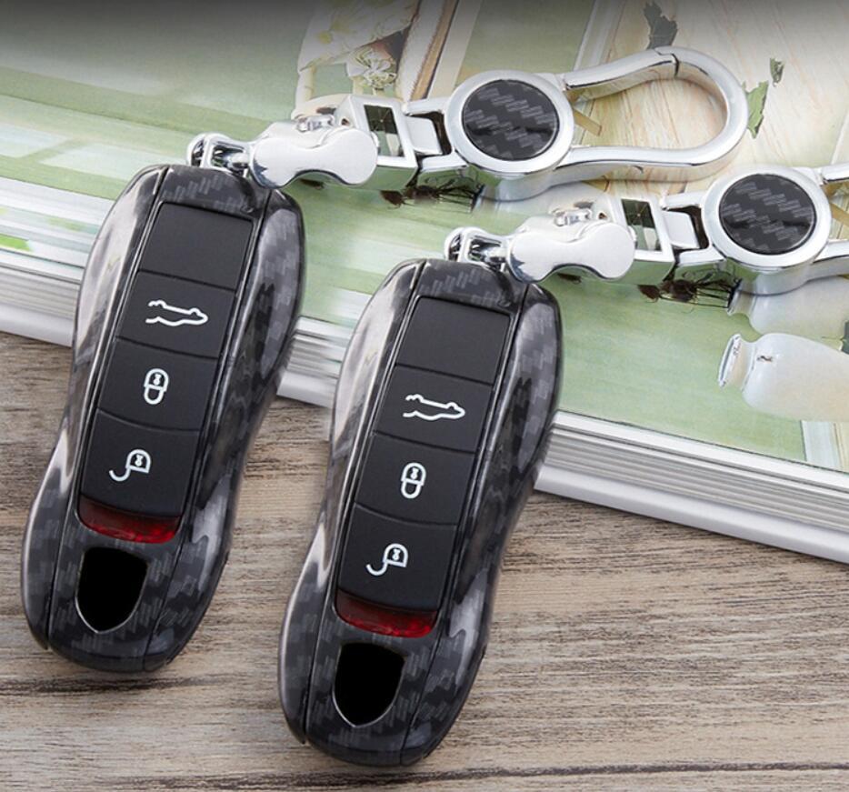 Acessórios do carro Carro de Controle Remoto Chave do Caso Fob Covers Shell Para Porsche Cayman Panamera Macan 911 Car Styling