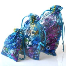 100PCS Bronzing Coral White Bottom Beam Pocket Wedding Bridle Bag One Sayukisa Jewelry Packaging Bag Holiday