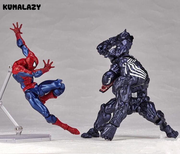 KUMALAZY Человек-паук против фигура Венома Человек-паук Питер Паркер Дэдпул яд Железный человек Росомаха ПВХ фигурку Модель игрушки подарок
